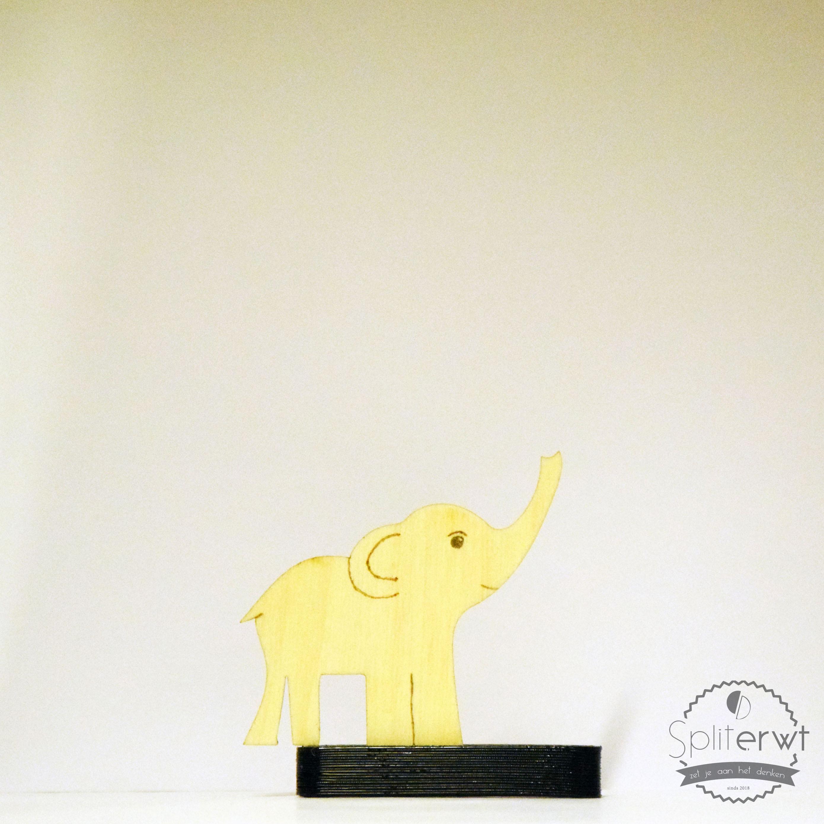 pyrografische olifant los